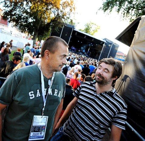 Tidligere sjefer: Anders Eriksen og Kai Gustavsen (t.h.) hadde ansvaret for konsertene fram ti l2012.
