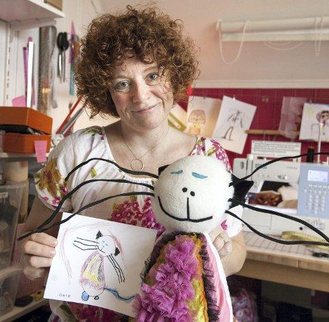Fra papir til kosedyr:  Slik kan et barns tegning bli til en myk og rar figur.