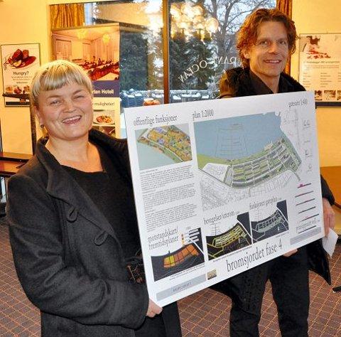 INSPIRERTE: Arkitektene Kathrine Austlid og Amund Gulden fra FuthArk AS. Begge foto: Trude Brænne Larssen
