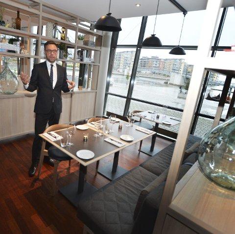 Administrerende direktør Øyvind S. Hagen ved Quality Hotel Tønsberg er stolt over restaurant Brasserie X, som åpner i disse dager.