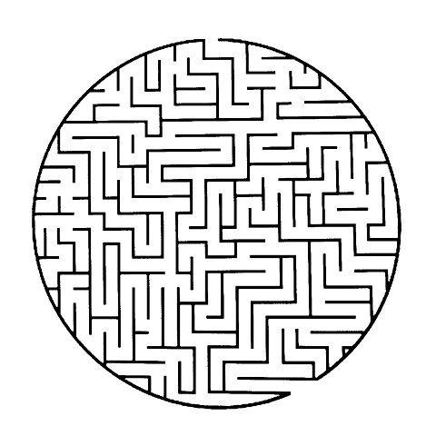 Jobb deg innover i labyrinten – men bruk kun øynene!