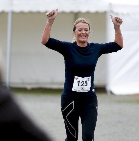 HALVMARATON:  Åse Marit Høie Torvestad var blant dem som løp halvmaraton.