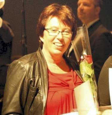 GLAD: Marit Hjelløkken er formann i Ådalsbruk Musikkforening.