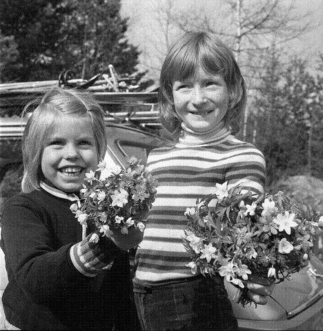 1973: Vårstemning for dem som tilbrakte påsken ved Ormtjern på Konnerud i 1973. FOTO: DT-ARKIV