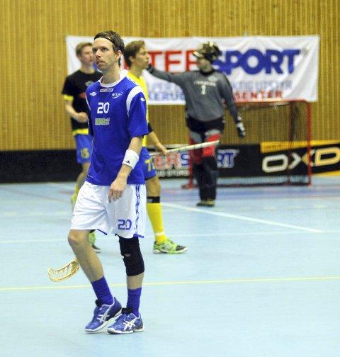 Steffen Løvlund og NOR 92 ble overkjørt av Slevik på bortebane. Her fra en tidligere kamp.