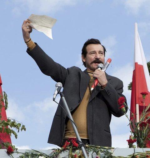 På barrikadene: Lech Walesa slik vi husker  ham.