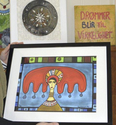 Motto: Pippi-bildet er Grys selvportrett, og mottoet er at drømmer kan bli virkelighet.