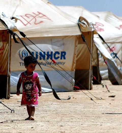 Flere flyktninger: Krigen i Syria har skapt en flyktningestrøm. Her en syrisk jente i leiren Al Zaatri i Jordan.          Arkivfoto: Scanpix
