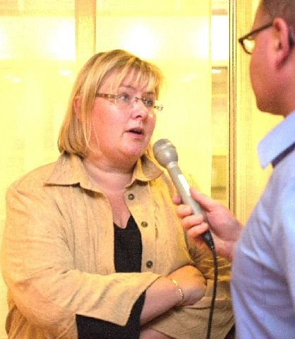 <b>Provoserer.</b> Kommunalminister Erna Solberg mener det av og til er nødvendig å provosere for å få debatten videre. (Foto: Espen Sandli)