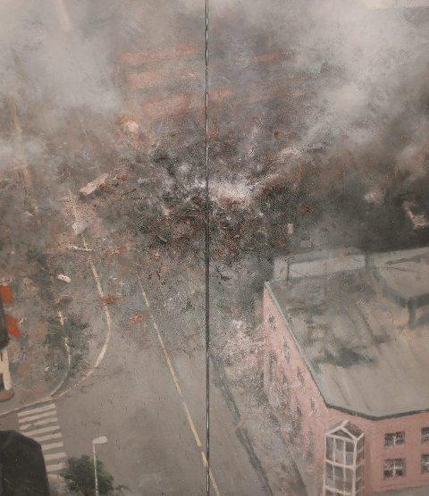 Halvorsen vekket blant annet oppmerksomhet med bildet «Dagen derpå» om bandidosbomben.