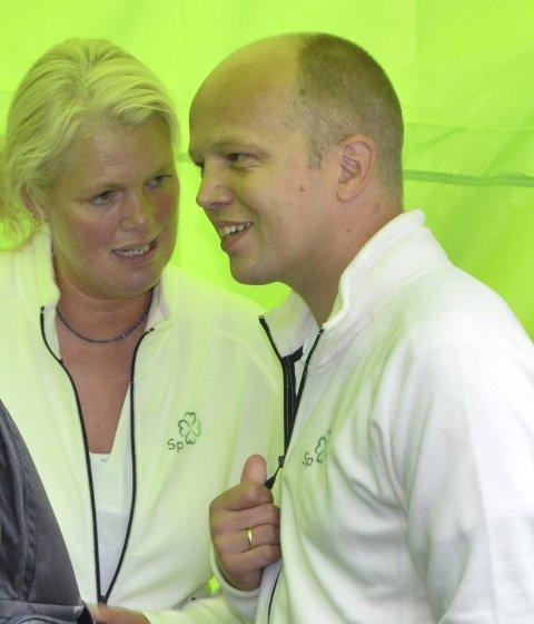 SP'S BESTE KORT: Fylkesleder Aasa Gjestvang mener avtroppende landbruksminister Trygve Magnus Slagsvold Vedum er Sps fremste kort framover.