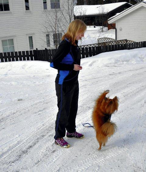 Trener mye: Max og Jeanette Sandbæk Haaland trener hver eneste dag.