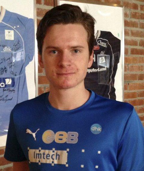 Ole Berg Sylte er den første av et knippe talentfulle juniorer i DHK som får proffkontrakt. Slemmestad-gutten har signert for to år.