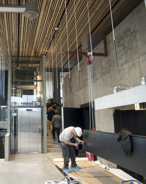 MAT: Snart åpner Valuta i disse lokalene inne i det nye kulturhuset.