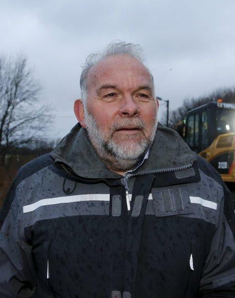 På gang: – Dette er en merke-dag, sier idrettssjef Kjell Einar Bergsager, som har flere planer for Haugesund Idrettspark.