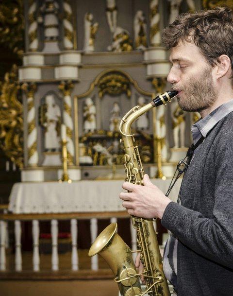 Tysker: Christian Weidner spiller alt-saksofon.