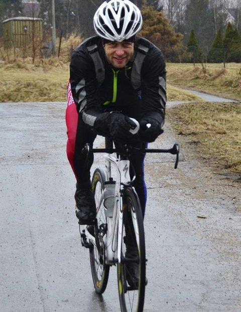 Godt forberedt: Thomas Andresen har trent målrettet over tid, og vil være en av favorittene i Fredrikstad triatlon.