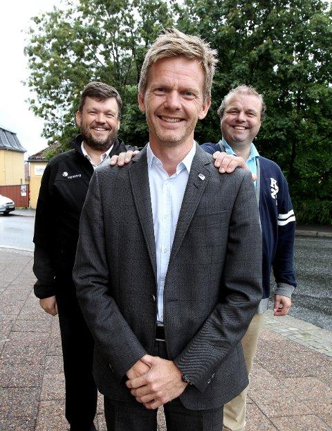 Tage Pettersen er Høyres ordførerkandidat i Moss. Nå har han også fått støtte av Venstre og Sindre W. Mork (til venstre) og KrF ved Halvard Sand.