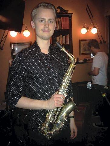 AnJazz-veteranen: Kasper Skullerud Værnes var 14 år første gang han spilte på AnJazz i hjembyen. Han har vært med på alle seks AnJazz-festivalene. Foto: Hilde Berit Evensen