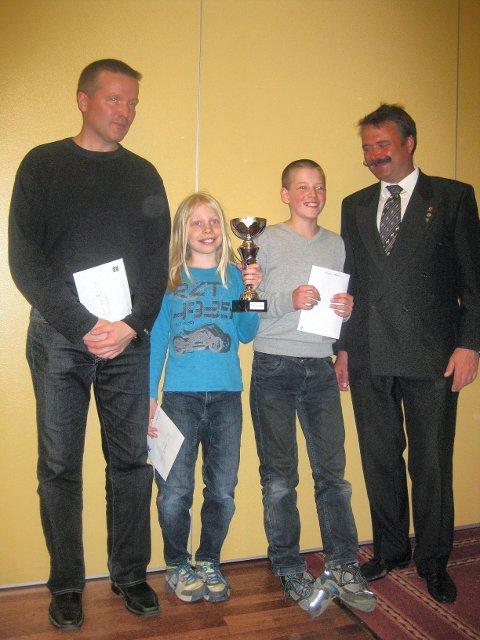 Frode Merkesvik (Bergen) 2. plass, Benjamin Imsrud (Sandefjord) 1. plass, Axel Thorenfeldt (Moss) 3. plass og Svein Erik Hilmen (Nord Aurdal).