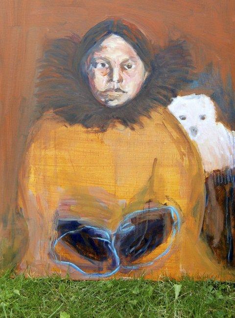 Eskimopike: Kamilla bodde hos Amundsen på Svartskog.