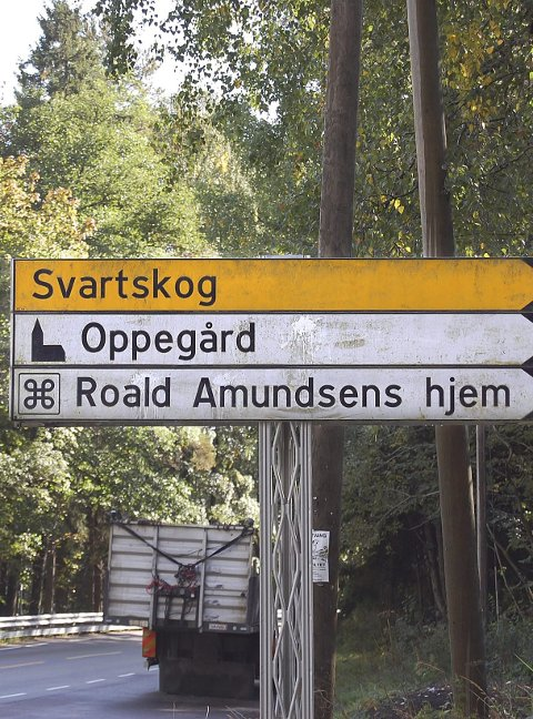 Bortgjemt: Kjør Roald Amundsens vei helt i enden.