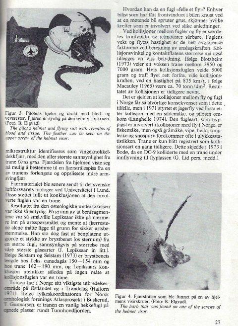 Pilotens drakt og hjelm etter ulykken.