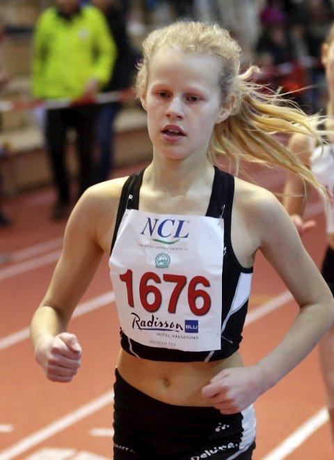 Vant i bjørgene: Eira Austad var raskest av alle jenter/kvinner i løpskarusellen på Torvastad.