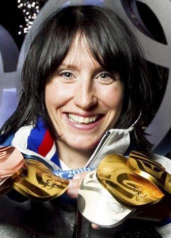 Marit Bjørgen tok tre gull og ble OL-dronningen.