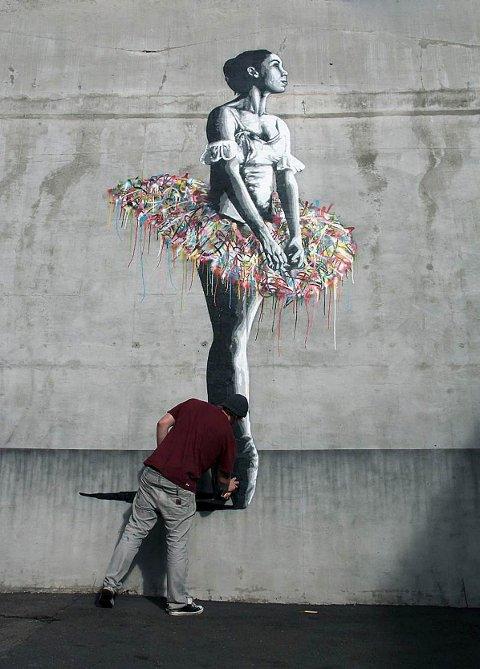 SJABLONGKUNST: – Street art har blitt stuerent. Det liker ikke graffitikunstnerne. De banet veien, og så får street art anerkjennelsen, sier Whatson.