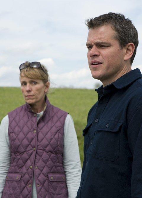 OK Drama: Frances McDormand og Matt Damon i miljødramaet «Promised Land». Foto: filmweb.no