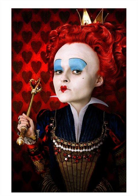 "Helena Bonham Carter som The Red Queen i ""Alice in Wonderland""."