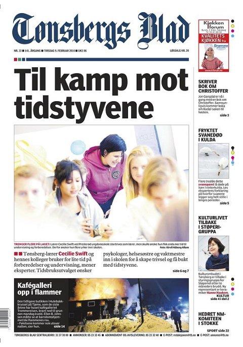 MÅ FÅ HJELP: Lærerne må få hjelp til oppgaver som faller utenfor deres fagfelt i skolen. Tønsbergs Blad 9. februar