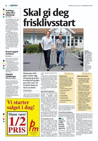 Sandefjords Blad omtalte det nye tilbudet i juni i fjor.