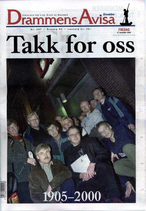 Fremtiden het DrammensAvisa de siste månedene før nedleggelsen i 2000. Nå gjenoppstår avisen som del av Dagsavisen.