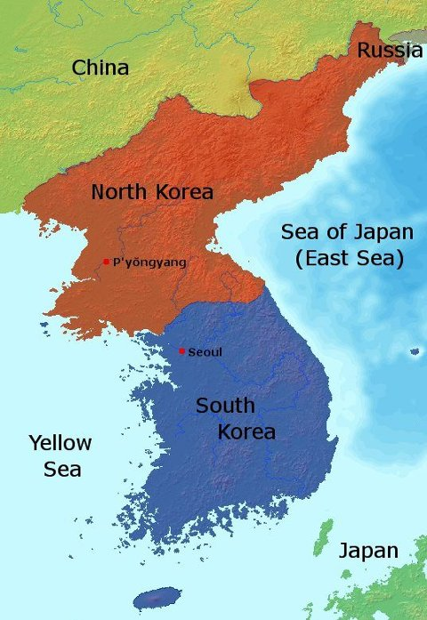 kart over nord og sør korea Østlendingen   Wegard tett på atomsprengninger kart over nord og sør korea