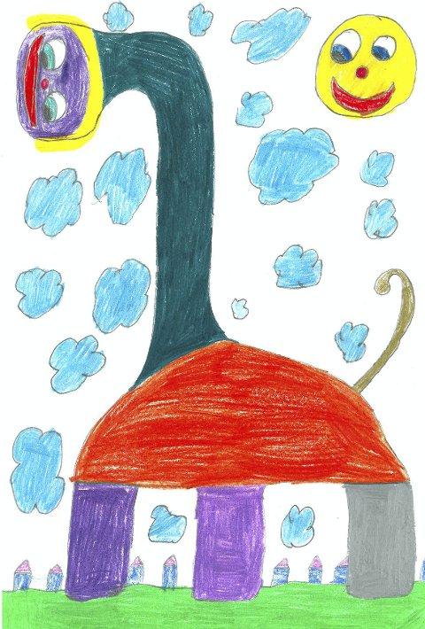 Vinnertegningen: «monstergiraff»tegning: Ira Opedal