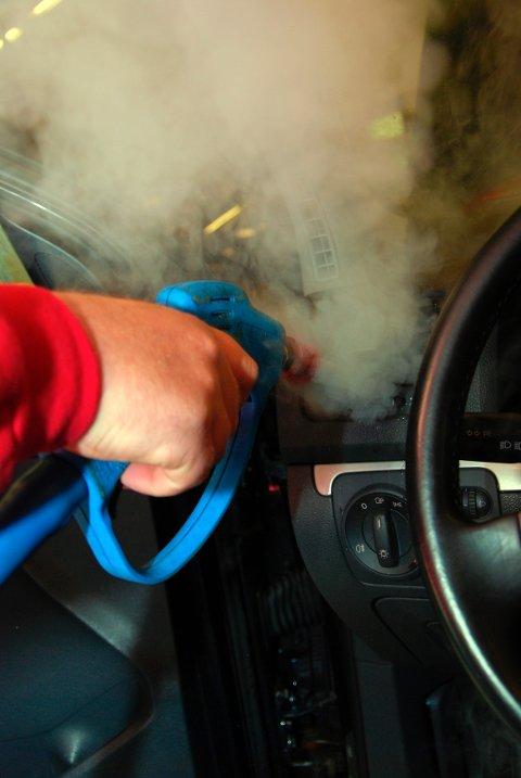 Damp rett i ventilasjonen renser også bakteriene.
