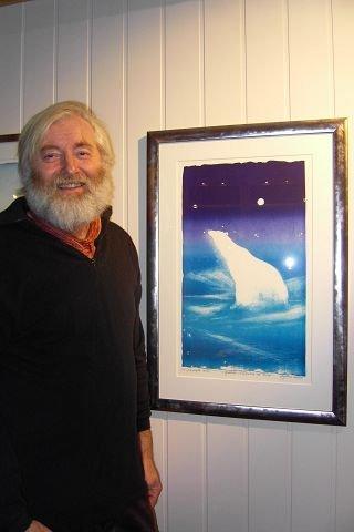 GRAFISK VERSJON: Olaf Storø med grafikk som viser isbjørnen Trude