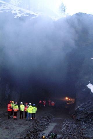 SISTE SMELL: Ca. 700 kg sprengstoff sørget for gjennomslag i Vadfosstunnelen torsdag 10. januar 2008 klokken 16.00.