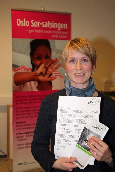 Nina Tveit, leder av frivilligsentralen på Bjørndal, er bekymret over at det ikke er noe juniorklubb-tilbud på Bjørndal. Arkivfoto: Arne Vidar Jenssen
