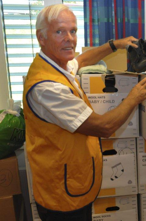 Hjelper: Einar Lyngar legger ned stor arbeid for flyktninger i største nød.
