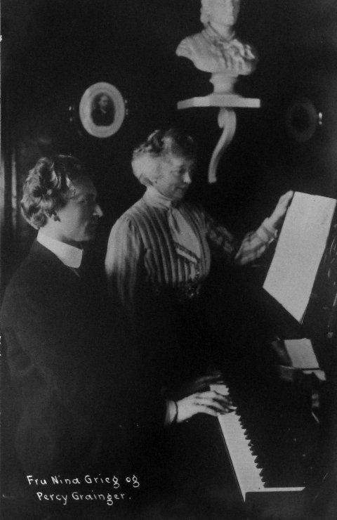 GODE VENNER: Percy Grainger ble god venn med Edvard Grieg og hans kone Nina. Da Grieg døde, ga Nina Percy Edvards gullklokke.