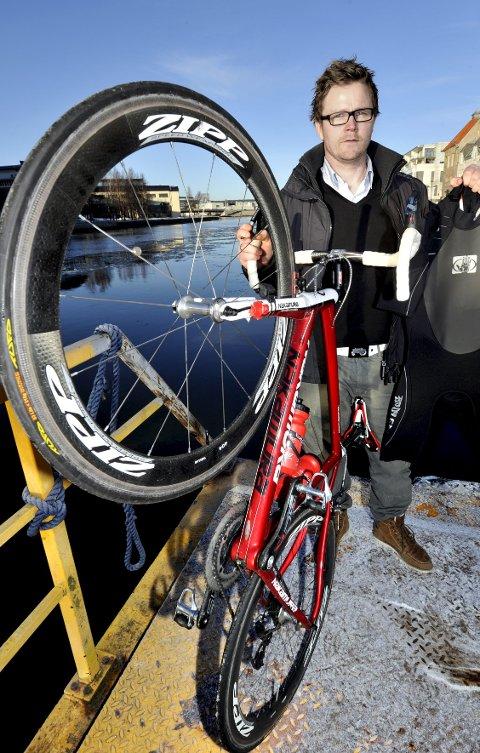 Triathlon-general: Knut Egeland er drivkraften bak triathlon-planene på Kirkeøy. ?foto: trond thorvaldsen