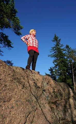 HØYESTE PUNKT: På Røykens høyeste punkt, Villingstadåsen 356 meter over havet.