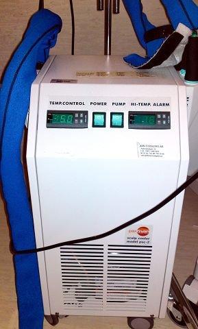 KjølehettemaskinEn slik maskin sparer sveisen under cellegiftkurer. Foto: Privat
