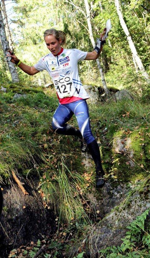 Mari fasting løp inn til en klar seier i NM i mellomdistanse og vant Kongepokalen for andre året på rad. Foto: Erik Borg