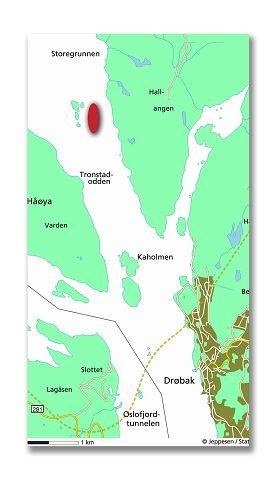 SKUTT: Krigsskipet Blücher ble beskutt utenfor Drøbak og sank lenger nord, ved Askholmene.