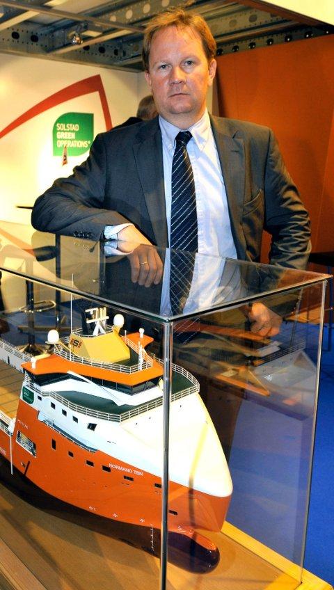 Oppmuntring: Skipsreder Lars Peder Solstad er fornøyd med at miljøsatsingen er lagt merke til. Arkivfoto: Torstein Nymoen
