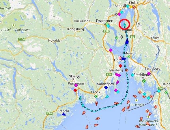 langesund kart Budstikka   Båtruten til Fornebu utsatt én uke langesund kart